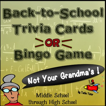 Back to School Trivia Cards and Bingo Game