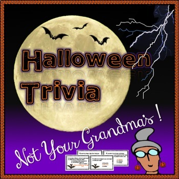 Halloween Trivia Game Cards