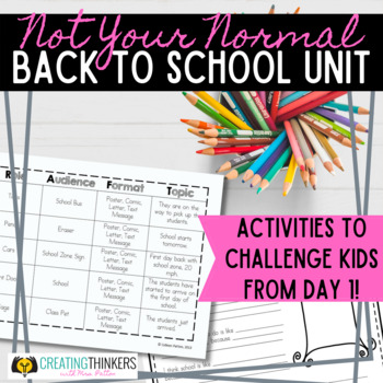Not Your Normal Back to School Unit