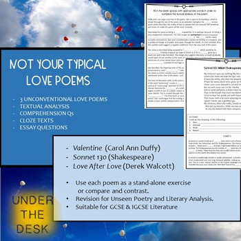 Not Your Typical Love Poems! - Guided Reading and Literary