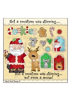 Not a Creature was stirring Clipart Collection