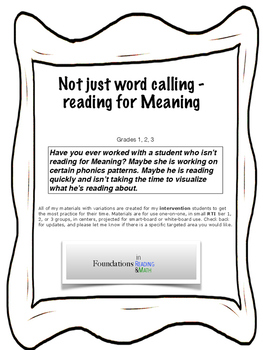 Not just word calling....