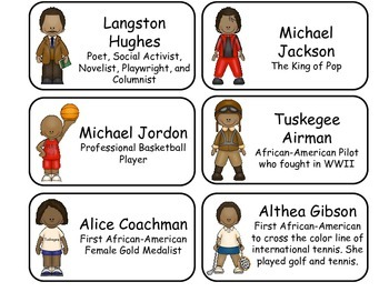 Notable African American History Flash Cards. Teach African American History.