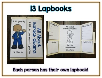 Notable African American Reports - 13 Lapbooks Research & Informational Writing