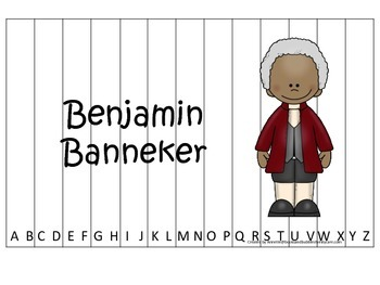 Notable African Americans Benjamin Banneker themed Alphabe
