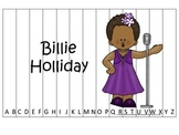 Notable African Americans Billie Holiday themed Alphabet Sequence Puzzle game.