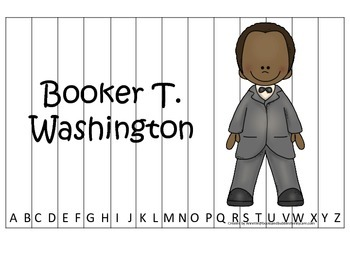 Notable African Americans Booker T Washington themed Alphabet Sequence game.