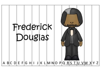 Notable African Americans Fredrick Douglas themed Alphabet Sequence Puzzle game.