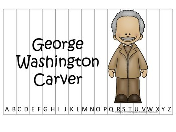 Notable African Americans George Washington Carver themed Alphabet Sequence game