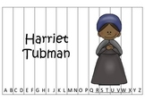Notable African Americans Harriet Tubman themed Alphabet Sequence Puzzle game.