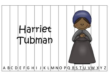 Notable African Americans Harriet Tubman themed Alphabet S
