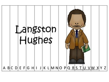 Notable African Americans Langston Hughes themed Alphabet Sequence Puzzle game.