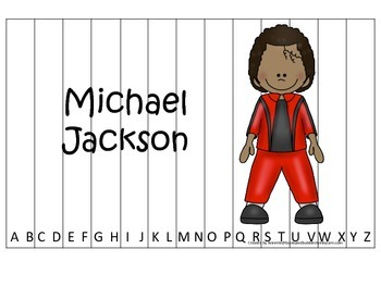 Notable African Americans Michael Jackson themed Alphabet