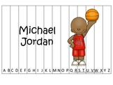 Notable African Americans Michael Jordan themed Alphabet Sequence Puzzle game.