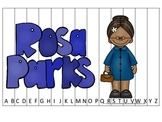 Notable African Americans Rosa Parks themed Alphabet Seque