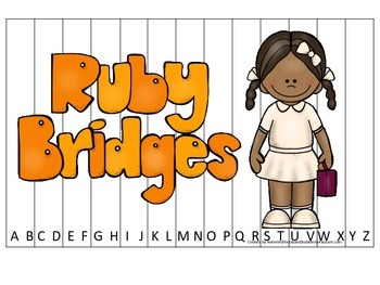 Notable African Americans Ruby Bridges themed Alphabet Sequence Puzzle game.