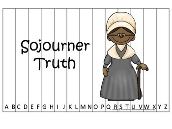 Notable African Americans Sojourner Truth themed Alphabet