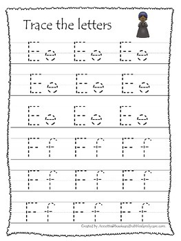 Notable African Americans themed A-Z Tracing preschool writing practice workshee