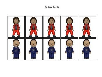 Notable African Americans themed Pattern Cards #1 preschool educational learning