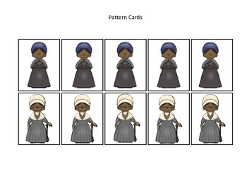 Notable African Americans themed Pattern Cards #3 preschool educational learning