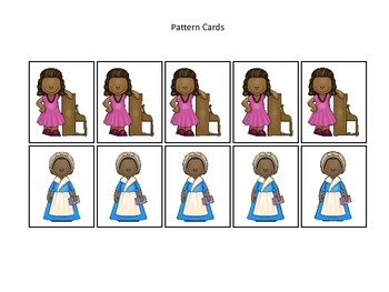 Notable African Americans themed Pattern Cards #4 preschool educational learning