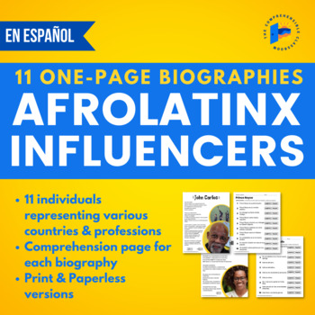 Notable Afro-Latinos: Simple biographies in Spanish
