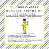 Notable Asians of Pop Culture - Research and Presentation Project