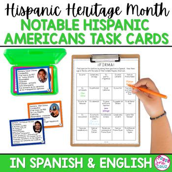 Hispanic Heritage Month: Notable Hispanic Americans Task Cards