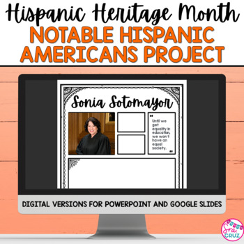 Hispanic Heritage Month: Notable Hispanic Americans Infographic Project