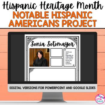 Hispanic Heritage Month: Notable Hispanic Americans Infographic Project