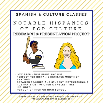 Notable Hispanics of Pop Culture - Research and Presentation Project
