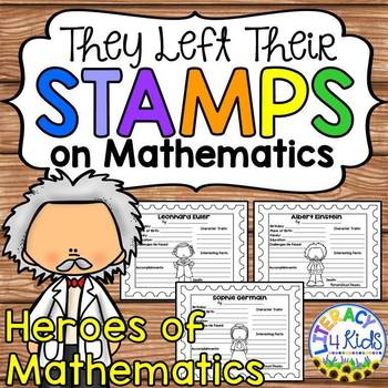 Notable Mathematicians Research Templates for Grades 3-5