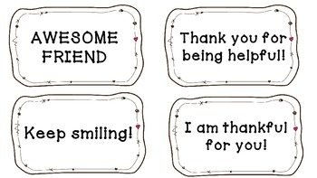 Notable Moments: Note Cards