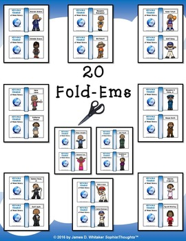 Notable Figures of Black History Mini Fold-Ems and Activities