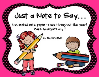Notables... Lined note paper you can use throughout the year