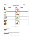 Notas de Animales / Spanish Animals