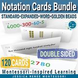 Montessori Math Place Value Notation Cards Bundle with Exp