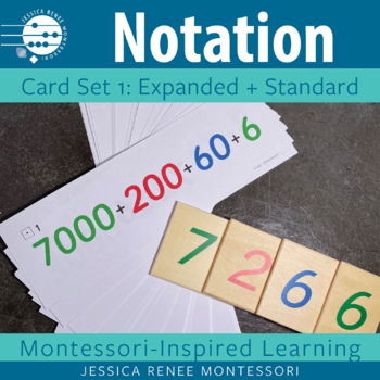 Place Value Notation Cards Set 1: Expanded and Standard