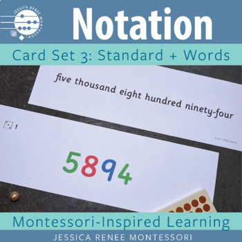 Place Value Notation Cards Set 3: Standard and Words
