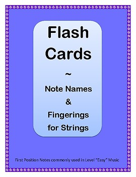 Notation Flashcards for Strings