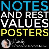 Note & Rest Values Informational Posters and Handouts
