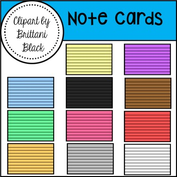Note Cards Clipart