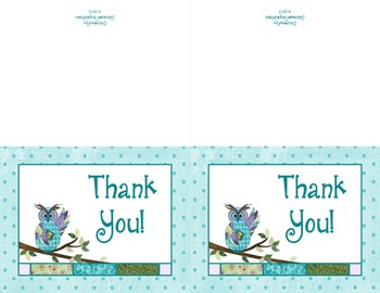 Note Cards – Coordinates with Book Smart Owls Classroom Theme
