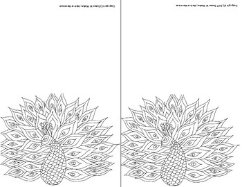 Note Cards for Personalizing by Coloring