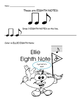 Note Characters! Coloring Pages for Young Music Students