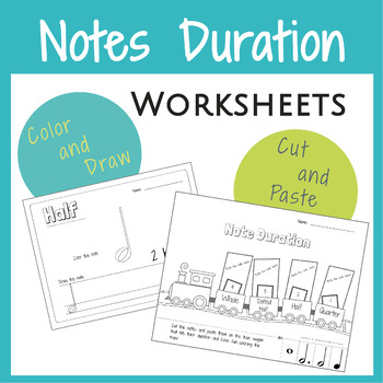 Note Duration Activities *5 Worksheets*