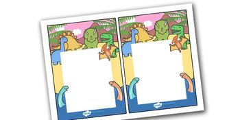Note From Teacher Dinosaur Themed- Editable