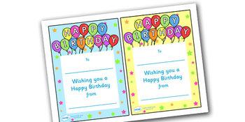 Note From Teacher- Happy Birthday