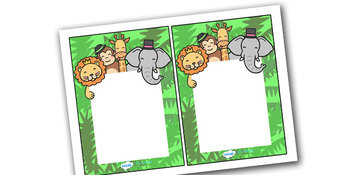 Note From Teacher Jungle Themed- Editable