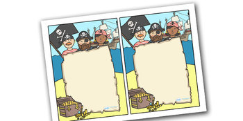 Note From Teacher Pirate Themed- Editable